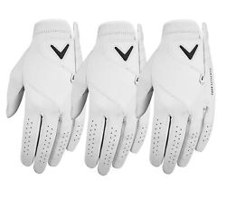 Callaway Mens Tour Authentic Golf Glove Left Hand 3-pack - New 2021