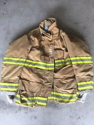 Firefighter Globe Turnout Bunker Coat 48x32 G-xtreme 2008 No Cut Out