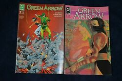 Lot Of 2 Dc Green Arrow Comic Books No 9 And 12 From 1987 1988