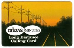 5m Midas Muffler Card Pictures Road And Power Lines Expired 4/30/95 Phone Card