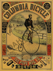 Columbia Bicycle Boston vintage bicycle ad poster 18x24