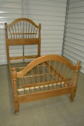 Ethan Allen Country French Twin Wheatback Bed Birch 26-5630 246 Provence