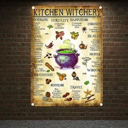 Nspirational Chef - Kitchen Witchery Jobs Vintage Banners Hanging Cloth Flags