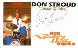 Buddy Holly Story Don Stroud Hand Signed 3x5 Picture Card Todd Mueller Coa