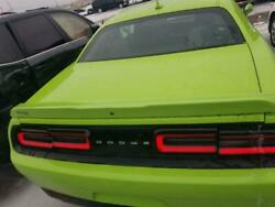 2015 Dodge Challenger Rt Trunk Deck Lid Assembly Sublime Green With Camera