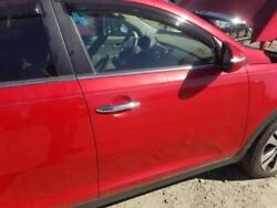 2012 Kia Sportage Passenger Right Front Door Assembly Red