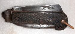 Vintage Old Joseph Rodgers And Sons Military Cutter Tool Knife Horn Handle England