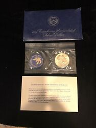 1974-s Eisenhower Uncirculated Silver Dollar/ Original Package With Paperwork