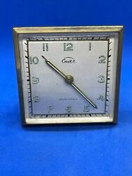 Vintage Enver Clock And Watch Co Germany Travel Alarm Works.