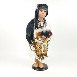 Duck House Heirloom Doll Native American Indian Girl 20 With Baby 1016/5000
