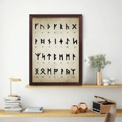 Runic Alphabet Divination Patent Vintage Poster Wall Decor Poster , No Framed