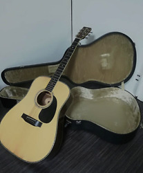 Morris W-30 Dreadnought Natural Electric Acoustic Guitar With Case Japan Shipped