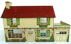 Vintage Louis Marx Pressed Steel Litho Dollhouse Mar Made In The Usa 1950and039s