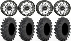 System 3 Sb-3 Machined 14 Wheels 30x9.5 Outback Max Tires Yamaha Grizzly Rhino