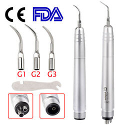 Usa Dental Ultrasonic Air Perio Scaler Handpiece Hygienist 2/4-holes With 3 Tips