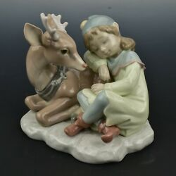 Lladro 6897 A Well Earned Rest Figurine Santaand039s Magical Workshop W/ Box And Book