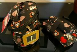 Betty Boop Black And Red Star Hearts 3 Pc Beauty Oval Shape Tote Bag