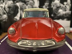 Vintage Rare Color Bandai 1959 Citroen Ds19 Tin Friction Toy Car Japan Awesome