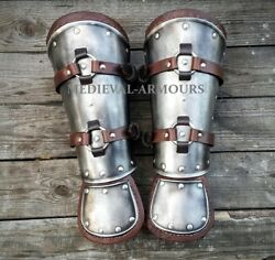 Medieval Bracers Witcher Cosplay Armor Steel And Leather Larp Fantasy Costume
