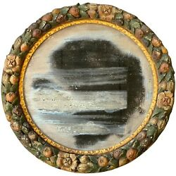 Round Wall Mirror With Fruit Decorated Frame From The John Philip Sousa Home