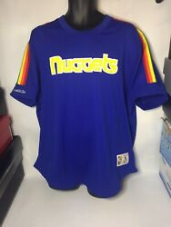 Mitchell And Ness Nba Hwc Denver Nuggets Shooting Shirt Jersey Size Xl 100.00