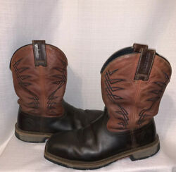 Irish Setter Red Wing Menand039s Us 9d Marshall Western Work Boots Brown 83910