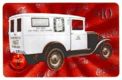Coca-cola And03996 10 Microlined Coke Truck 7 And039six-box Easy To Buyand039 Phone Card