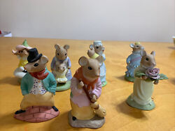 The Mousetown Usa Collection. Lot Of 7 Figurines Reco 1985. Ks1