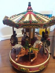 Mr Christmas Holiday Merry Go Round Animated Carousel Plays 50 Songs Vtg 1996