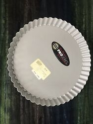Set Of 4 Fat Daddios Fluted Tart Pan With Removable Bottom, 9.5 X 1 Deep Pft-9
