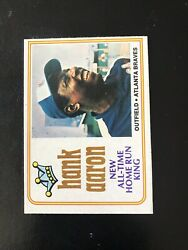 """1974 O-pee-chee 1 Hank Aaron """"all-time Hr King""""— Super Tough💥 Wph"""
