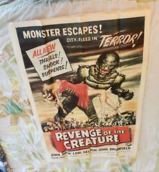 Revenge Of The Creature ⭐ From The Black Lagoon Original Movie Poster