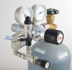 Stainless Steel Concoa 332 Dual Stage Regulator Custom Co2 System.