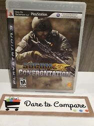 Socom Us Navy Seals Confrontation Sony Playstation 3 Ps3 With French Manual