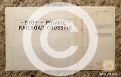 Rare Antique Chicago And North Western Railway Crossing Signs Blueprint Railroad