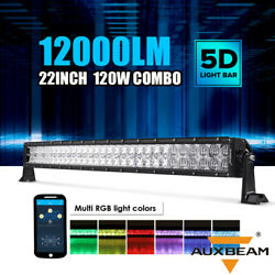 Auxbeam 22''inch 120w Led Work Light Bar Combo Offroad Pickup Rgb Multi-color