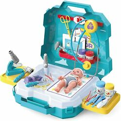 2021 Play House Childrenand039s Nurses Simulation Clinic Equipment Medical Set Toys