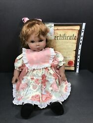 """Lissi Doll Lanie Signed 224 / 1000 Germany 1992 Certificate 21.5"""""""
