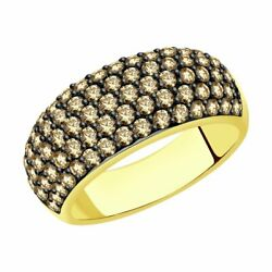 New Sokolov Ring From 585 Yellow Gold With Diamonds 1.440 Ct