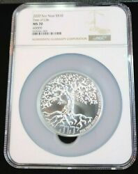 2020 Niue Silver 10 Dollars S10 5 Oz Tree Of Life 0009 Ngc Ms 70 Perfect Pop 1