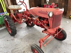 Farmall Cub Was Running Needs Work Red Vintage Old School Tractor