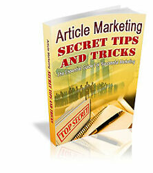 Ebook For Article Marketing Secret Tips And Tricks