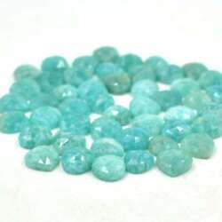 Amazonite Heart Shape Rose Cut Loose Gemstones Pair For Making Size 16mm To 20mm