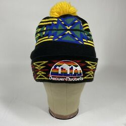 Denver Nuggets Beanie Hat Cap Mitchell And Ness Multicolor