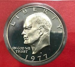 1977 S Eisenhower Dollar Gem Cameo Clad Proof Coin Ike From Us Proof Mint Set