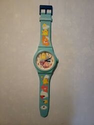 Great Condition Vintage 2003 Wall Hanger Working Care Bears Clock Giant Watch