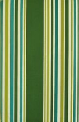 Shades Of Green And Teal Stripes Vinyl Flannel Back Tablecloth-various Sizes
