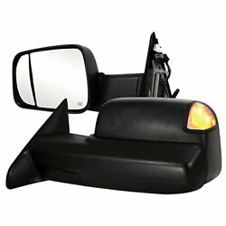 Towing Mirrors For 2010-2011 Dodge Ram 2500/3500 [power/heated] Premium Fx