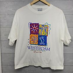 Vintage Gear For Sports Westerdam Cruise Crop Shirt Large