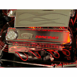 Hot Rod Wire Looms W/red Led Flame For Domestic V8 W/lng Plug Wires/dstrbtr
